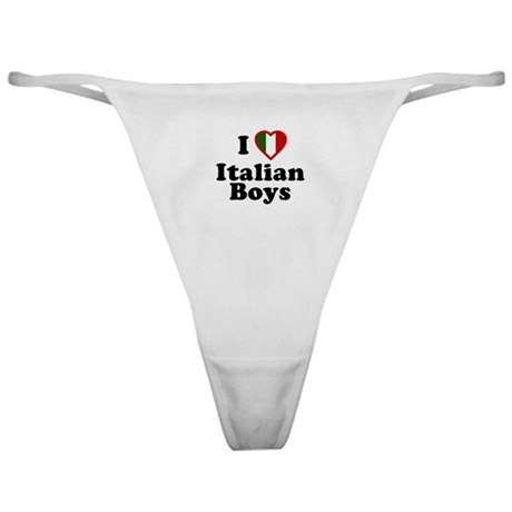 I Love Italian Boys Classic Thong