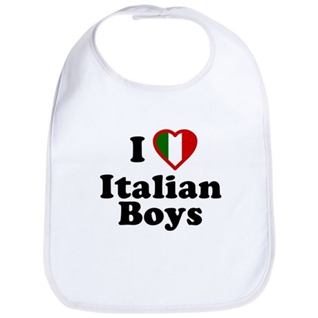 I Love Italian Boys Bib