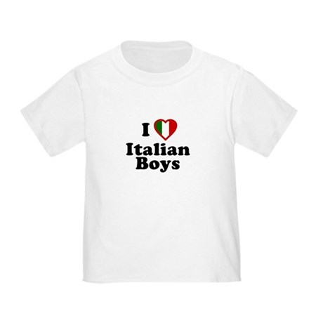 I Love Italian Boys Toddler T-Shirt