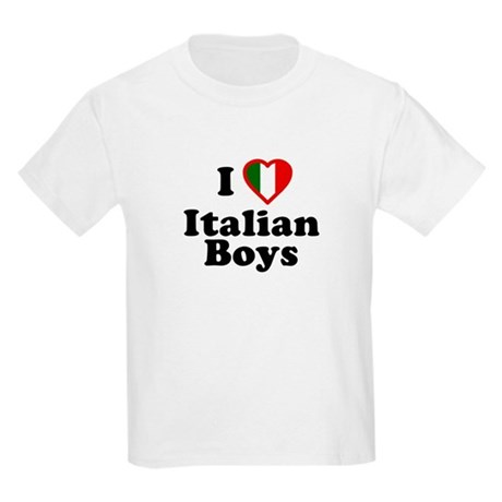 I Love Italian Boys Kids T-Shirt