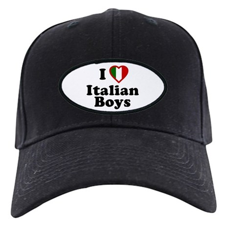 I Love Italian Boys Black Cap