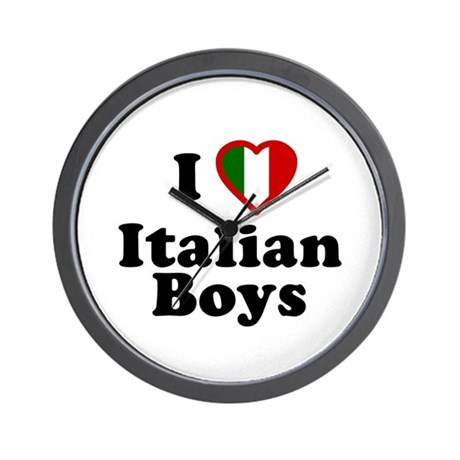 I Love Italian Boys Wall Clock