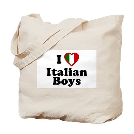 I Love Italian Boys Tote Bag