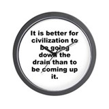 Funny Henry allen quotation Wall Clock