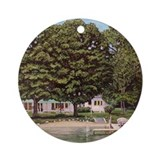 Mullett Lake CottageOrnament (Roun