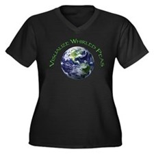 Whirled Peas Women's Plus Size V-Neck Dark