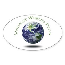 Visualize Whirled Peas Oval Decal