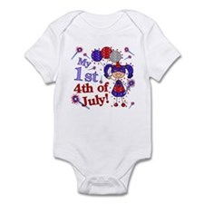 1st July 4th Girl Blue Infant Bodysuit