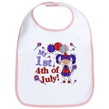 1st July 4th Girl Blue Bib