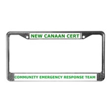 New Canaan CERT License Plate Frame