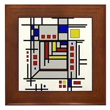Funny Abstract art Framed Tile