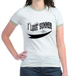 I Love Summer Jr. Ringer T-Shirt