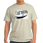 I Love Marissa Ash Grey T-Shirt