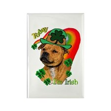 Staffordshire Bull Terrier Rectangle Magnet (10 pa