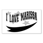 I Love Marissa Rectangle Sticker