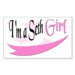 I'm a Seth Girl Rectangle Sticker