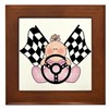 Lil Race Winner Baby Girl Framed Tile