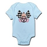 Lil Race Winner Baby Girl Onesie
