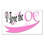 I Love the OC Rectangle Sticker