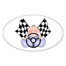 Lil Race Winner Baby Boy Oval Decal