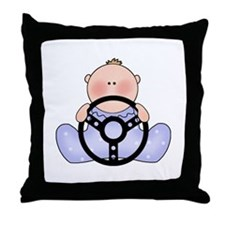 Lil Race Baby Boy Throw Pillow