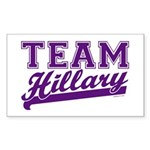 Team Hillary Purple Rectangle Sticker