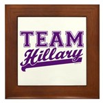 Team Hillary Purple Framed Tile