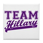 Team Hillary Purple Tile Coaster