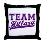 Team Hillary Purple Throw Pillow