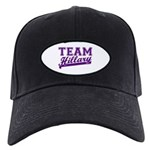 Team Hillary Purple Black Cap