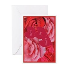 Red and Pink Roses, Have My Heart Greeting Card
