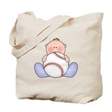 Lil Baseball Baby Boy Tote Bag