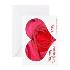Red Rose in Heart Greeting Card
