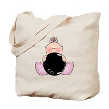 Lil Bowling Baby Girl Tote Bag