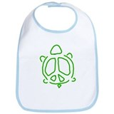 Peace turtle Bib
