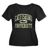 CATFISHING UNIVERSITY Women's Plus Size Scoop Neck