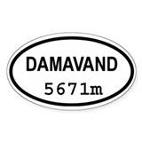 Mt. Damavand Oval Decal