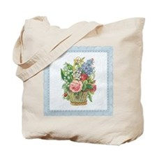 Basket of Spring Flowers Tote Bag