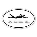 It's Business Time Swimming Oval Sticker
