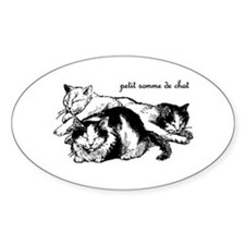 Petit Somme de Chat - Cat Nap Oval Decal