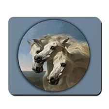 White Arabian Horses. Mousepad