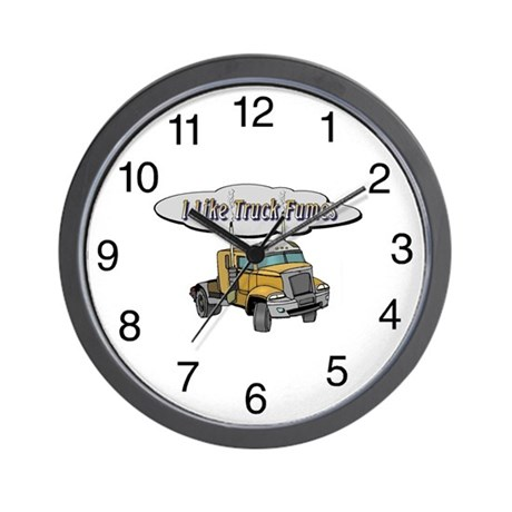 I Like Truck Fumes Wall Clock