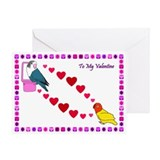 Lovebird Valentine (Single Card)