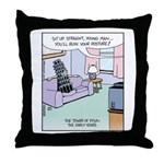 Pisa Leaning Tower Throw Pillow