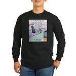 Pisa Leaning Tower Long Sleeve Dark T-Shirt