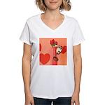 Valentine's Day #3 Women's V-Neck T-Shirt