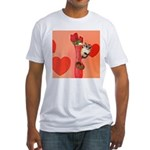 Valentine's Day #3 Fitted T-Shirt