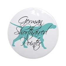 Elegant Teal GSP Dog Ornament (Round)