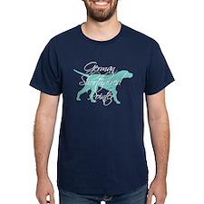 Elegant Teal GSP Dog T-Shirt