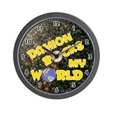 Damion Rocks My World (Gold) Wall Clock